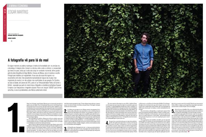"""""""A fotografia vê para lá do real"""", Jornal de Negócios interviews Edgar Martins"""
